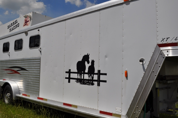 Side of Exiss Horse Trailer