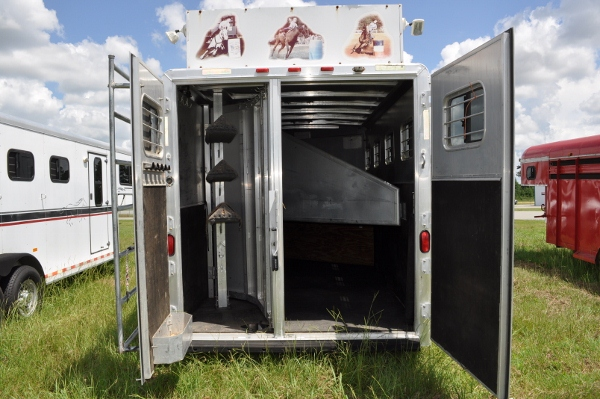 Inside Exiss Horse Trailer