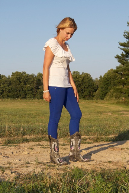 Colored Jeans and Cowboy Boots