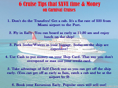 Cruise Tips that Save Time and Money