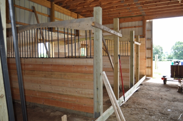 horse stall side wall