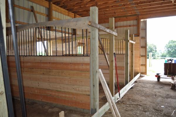 Barn Improvements Part 2 Custom Arched Horse Stalls