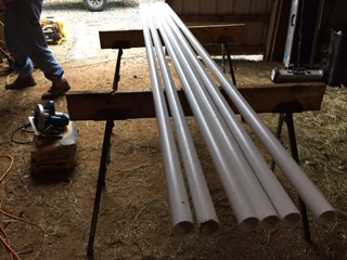 how to make your own pole bending set