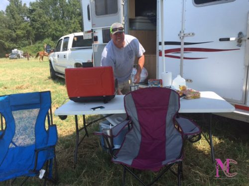 Grilling at the Horse show