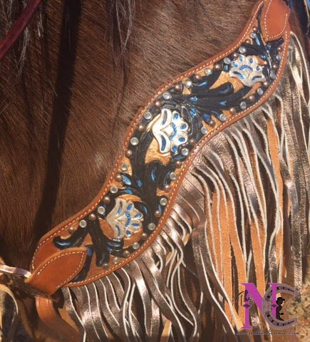 hand painted breastcollar