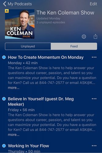 ken coleman podcast - find your passion - for me that means being an entrepreneur