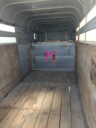 Clean Inside of Horse Trailer