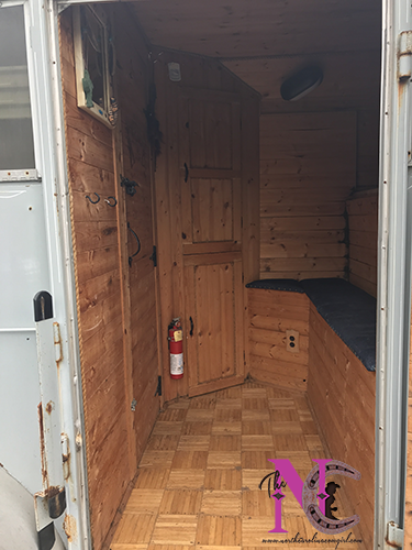 Sleeping Quarters of Horse Trailer